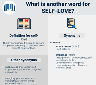 self love, synonym self love, another word for self love, words like self love, thesaurus self love