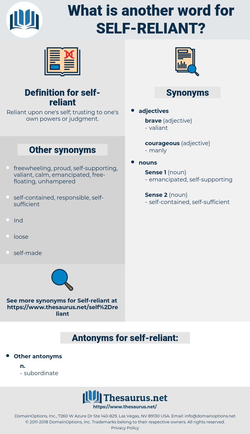 self-reliant, synonym self-reliant, another word for self-reliant, words like self-reliant, thesaurus self-reliant