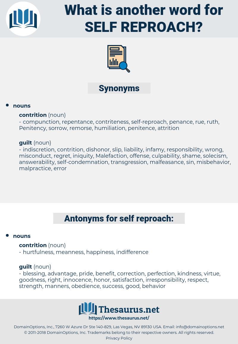 self-reproach, synonym self-reproach, another word for self-reproach, words like self-reproach, thesaurus self-reproach