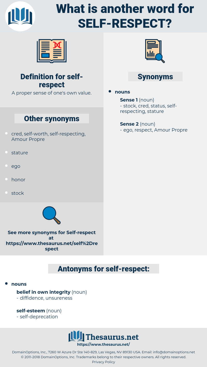 self respect, synonym self respect, another word for self respect, words like self respect, thesaurus self respect