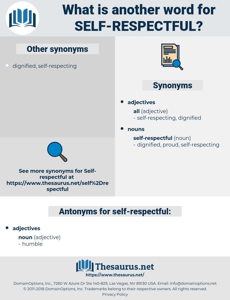 self-respectful, synonym self-respectful, another word for self-respectful, words like self-respectful, thesaurus self-respectful