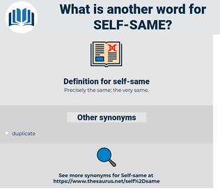 self same, synonym self same, another word for self same, words like self same, thesaurus self same