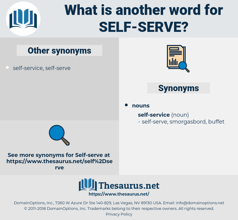 self-serve, synonym self-serve, another word for self-serve, words like self-serve, thesaurus self-serve