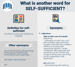 self-sufficient, synonym self-sufficient, another word for self-sufficient, words like self-sufficient, thesaurus self-sufficient