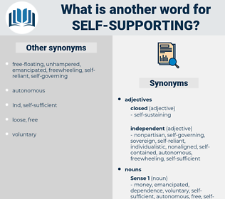 self-supporting, synonym self-supporting, another word for self-supporting, words like self-supporting, thesaurus self-supporting
