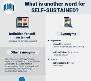 self-sustained, synonym self-sustained, another word for self-sustained, words like self-sustained, thesaurus self-sustained