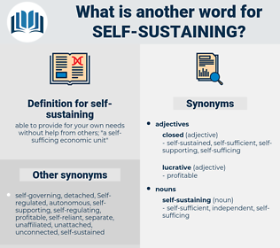 self-sustaining, synonym self-sustaining, another word for self-sustaining, words like self-sustaining, thesaurus self-sustaining