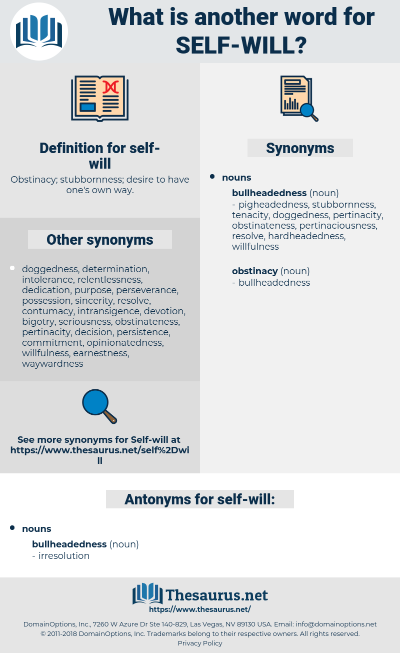 self-will, synonym self-will, another word for self-will, words like self-will, thesaurus self-will