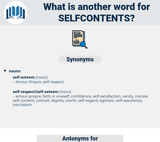 selfcontents, synonym selfcontents, another word for selfcontents, words like selfcontents, thesaurus selfcontents