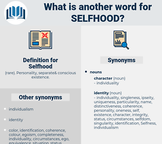 Selfhood, synonym Selfhood, another word for Selfhood, words like Selfhood, thesaurus Selfhood