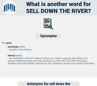 sell down the river, synonym sell down the river, another word for sell down the river, words like sell down the river, thesaurus sell down the river
