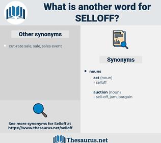 selloff, synonym selloff, another word for selloff, words like selloff, thesaurus selloff