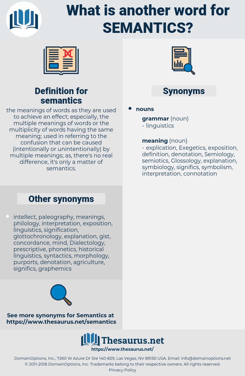 semantics, synonym semantics, another word for semantics, words like semantics, thesaurus semantics