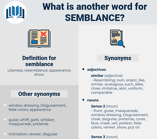 semblance, synonym semblance, another word for semblance, words like semblance, thesaurus semblance