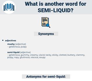 semi-liquid, synonym semi-liquid, another word for semi-liquid, words like semi-liquid, thesaurus semi-liquid