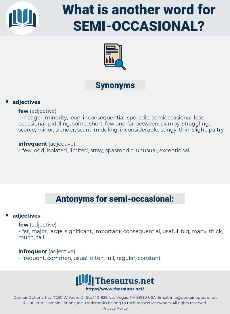 semi occasional, synonym semi occasional, another word for semi occasional, words like semi occasional, thesaurus semi occasional