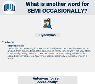 semi-occasionally, synonym semi-occasionally, another word for semi-occasionally, words like semi-occasionally, thesaurus semi-occasionally