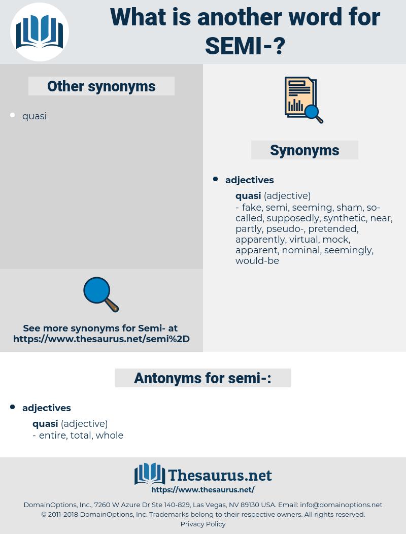 semi, synonym semi, another word for semi, words like semi, thesaurus semi