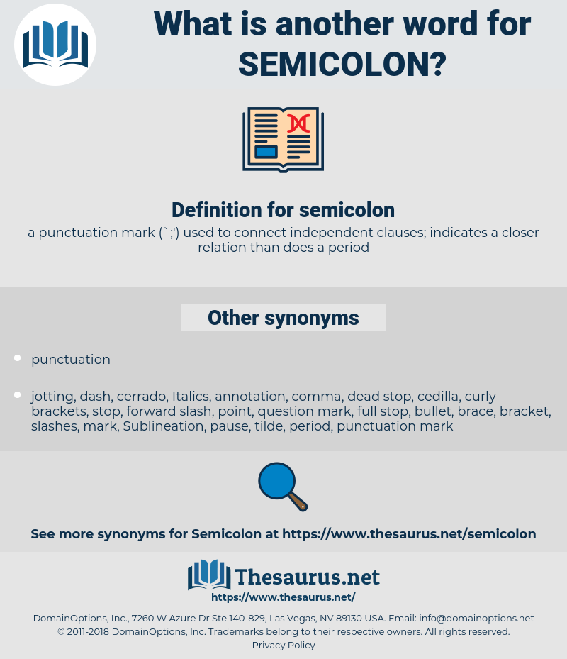 semicolon, synonym semicolon, another word for semicolon, words like semicolon, thesaurus semicolon