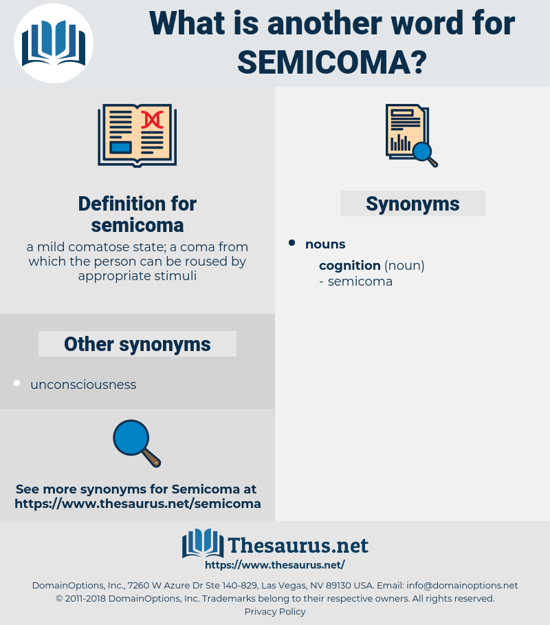 semicoma, synonym semicoma, another word for semicoma, words like semicoma, thesaurus semicoma