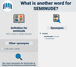 seminude, synonym seminude, another word for seminude, words like seminude, thesaurus seminude