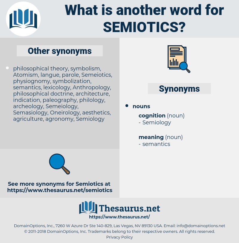 semiotics, synonym semiotics, another word for semiotics, words like semiotics, thesaurus semiotics