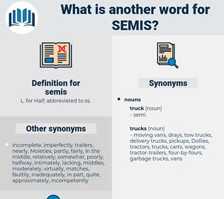 semis, synonym semis, another word for semis, words like semis, thesaurus semis