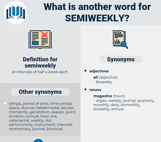 semiweekly, synonym semiweekly, another word for semiweekly, words like semiweekly, thesaurus semiweekly