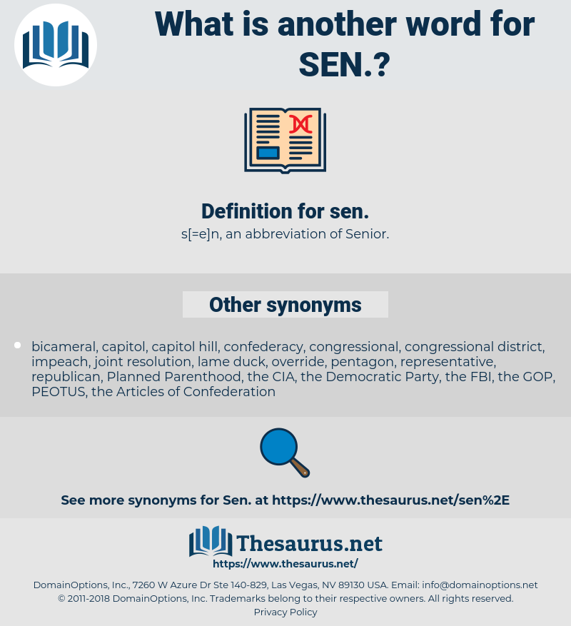 sen, synonym sen, another word for sen, words like sen, thesaurus sen
