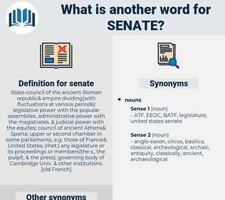 senate, synonym senate, another word for senate, words like senate, thesaurus senate