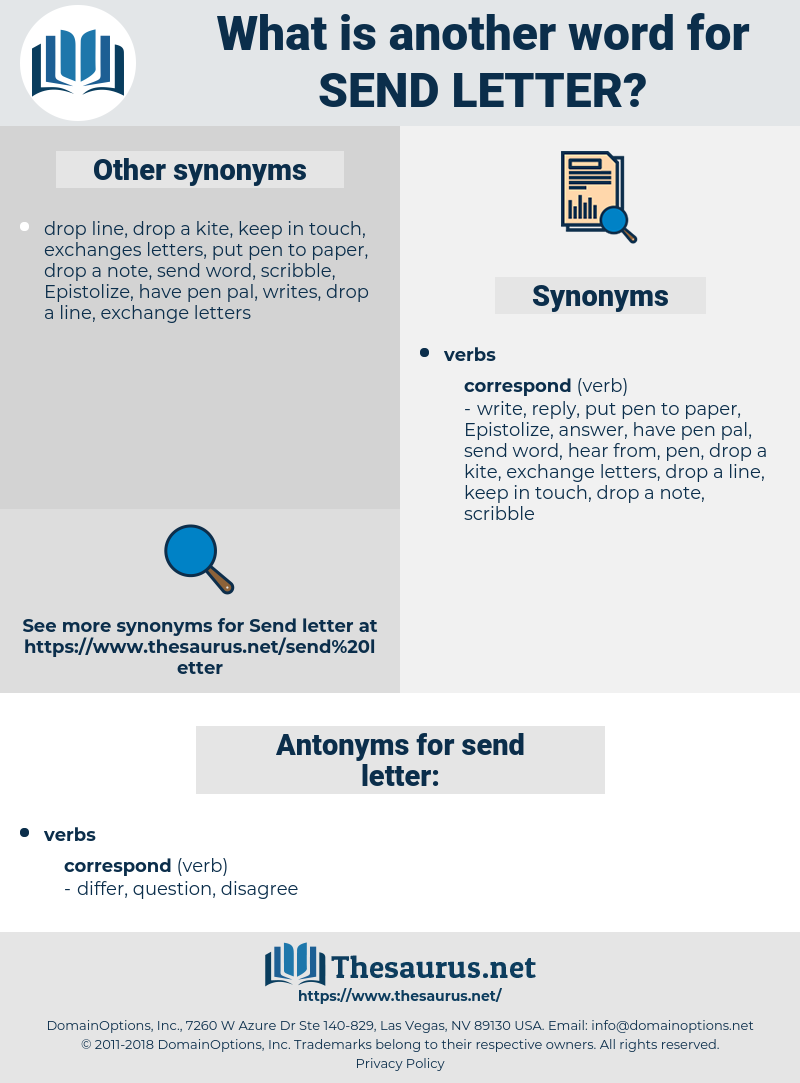 send letter, synonym send letter, another word for send letter, words like send letter, thesaurus send letter