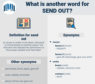 send out, synonym send out, another word for send out, words like send out, thesaurus send out