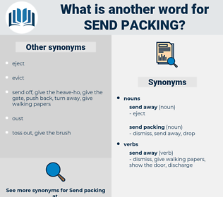 send packing, synonym send packing, another word for send packing, words like send packing, thesaurus send packing