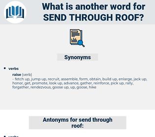 send through roof, synonym send through roof, another word for send through roof, words like send through roof, thesaurus send through roof
