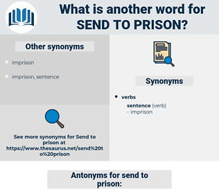 send to prison, synonym send to prison, another word for send to prison, words like send to prison, thesaurus send to prison