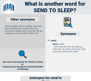 send to sleep, synonym send to sleep, another word for send to sleep, words like send to sleep, thesaurus send to sleep