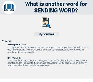 sending word, synonym sending word, another word for sending word, words like sending word, thesaurus sending word