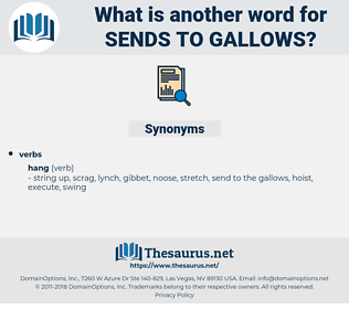 sends to gallows, synonym sends to gallows, another word for sends to gallows, words like sends to gallows, thesaurus sends to gallows