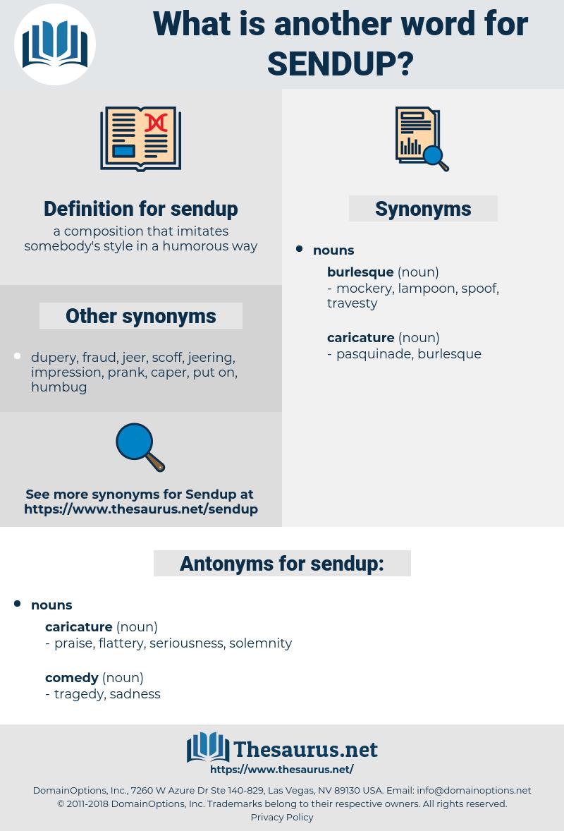 sendup, synonym sendup, another word for sendup, words like sendup, thesaurus sendup