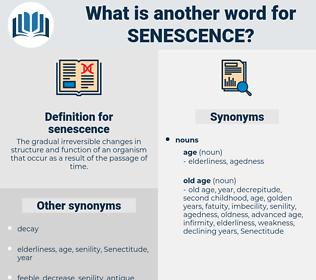 senescence, synonym senescence, another word for senescence, words like senescence, thesaurus senescence