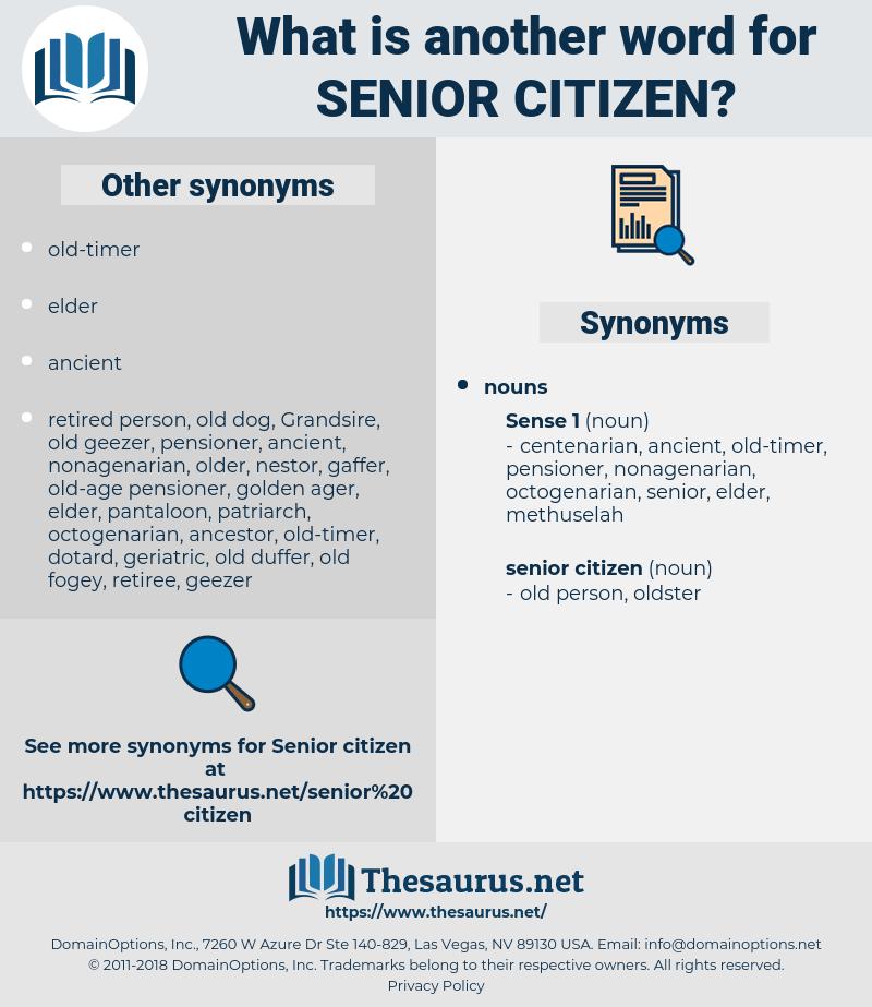 senior citizen, synonym senior citizen, another word for senior citizen, words like senior citizen, thesaurus senior citizen