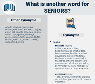 seniors, synonym seniors, another word for seniors, words like seniors, thesaurus seniors