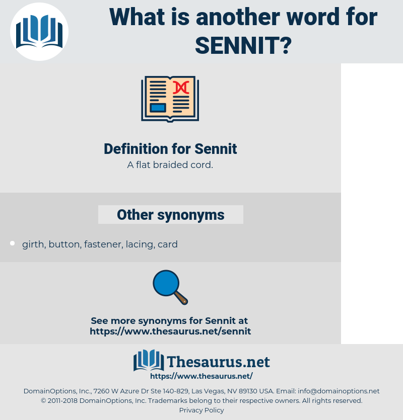 Sennit, synonym Sennit, another word for Sennit, words like Sennit, thesaurus Sennit