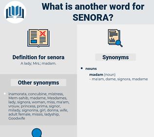 senora, synonym senora, another word for senora, words like senora, thesaurus senora