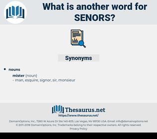 senors, synonym senors, another word for senors, words like senors, thesaurus senors