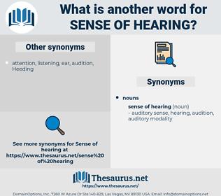 sense of hearing, synonym sense of hearing, another word for sense of hearing, words like sense of hearing, thesaurus sense of hearing
