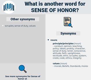 sense of honor, synonym sense of honor, another word for sense of honor, words like sense of honor, thesaurus sense of honor