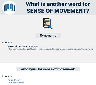 sense of movement, synonym sense of movement, another word for sense of movement, words like sense of movement, thesaurus sense of movement