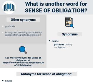 sense of obligation, synonym sense of obligation, another word for sense of obligation, words like sense of obligation, thesaurus sense of obligation