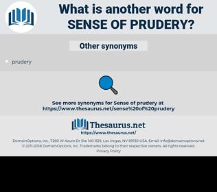 sense of prudery, synonym sense of prudery, another word for sense of prudery, words like sense of prudery, thesaurus sense of prudery